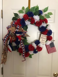 red, blue, and white wreath Corpus Christi, 78411