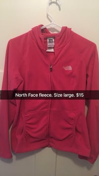 red The North Face zip-up hoodie Ames, 50014