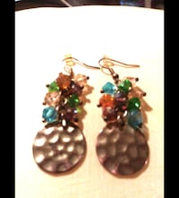 GOLD, IRIDESCENT PASTEL SPARKLERS EARRINGS Melbourne, 32934