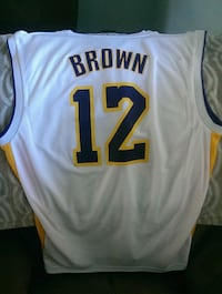 white, blue, and yellow Brown 12 basketball jersey Santa Clarita, 91351