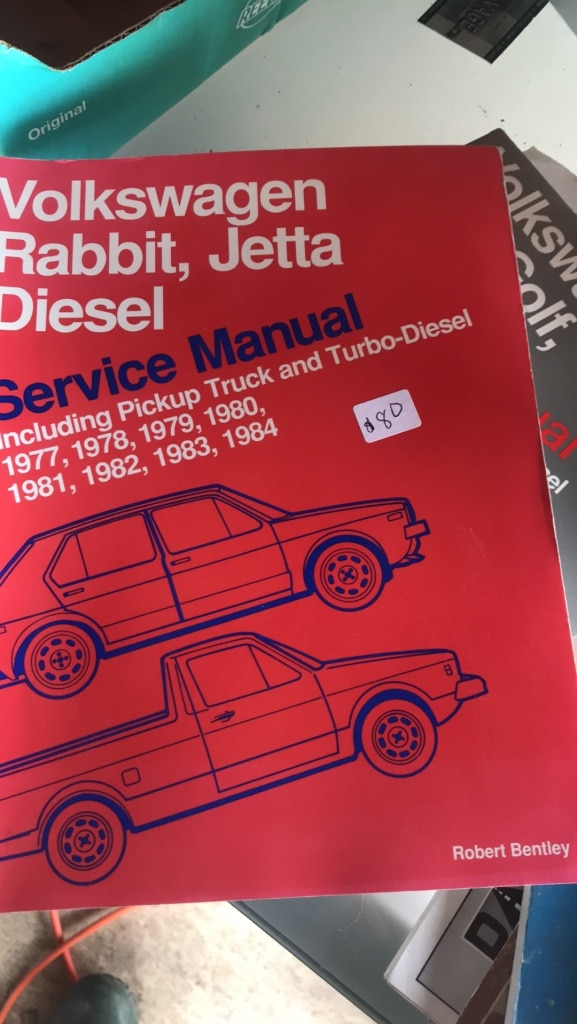 Photo Volkswagen rabbit, Jetta diesel service manual including pick up truck and turbo diesel 1977 through 1984
