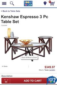 3 Pc Table set(2 side tables & 1 coffee table) for sale Houston, 77063