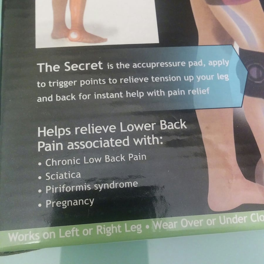 NEW: BEACTIVE pressure point leg wrap for back pain relief   As seen o 033078d8-0470-4e8c-adc8-f4d4e7f5804f