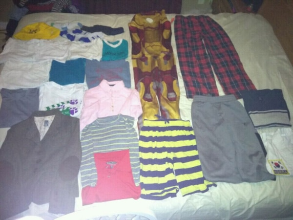 Boys clothes mostly Med. and Sml.