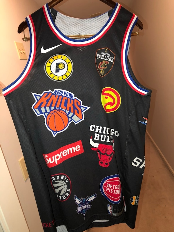 newest 971dd e5af2 Supreme NBA Jersey