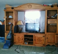 4 piece solid wood entertainment center 1,500 Bossier City, 71112