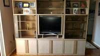 Opal Oak Wall Unit..3 Pieces... roughly 6ft H...7 ft in L...2.5 W... Toronto, M6K 3G7