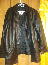black leather button-up jacket Houston, 77076