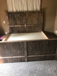 King size bed frame homemade Calgary, T3M 1A8