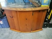 brown wooden framed glass fish tank Lake Worth, 33467