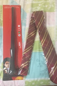 Harry Potter tie and Wand