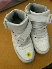 pair of white Nike Air Force 1 low Silver Spring, 20906