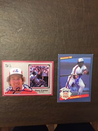 Baseball Montreal Expos signed big cards Carter, Tim Raines, Guerrero