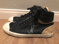 Size 10 Authentic Saint Laurent men's high top denim sneakers