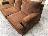 brown suede 2-seat sofa Dallas, 75214