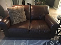 black leather 2-seat sofa Parker, 80134