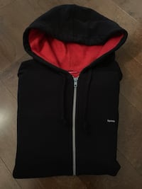 Supreme Small Box Logo Contrast Zip Hoodie. Size Large. Coquitlam, V3B 5R5