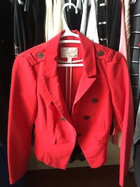 red zip-up jacket Airdrie