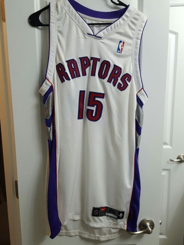 timeless design 756bf 6949e vince carter game worn autographed jersey