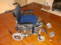Black and gray mobility scooter