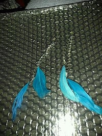 Blue feather earrings Suitland-Silver Hill, 20746
