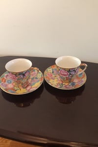 Handmade Fifth Avenue Collection set of 4 tea cups  Brampton, L6X 3E5