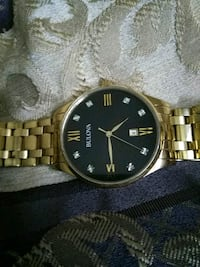 round gold-colored analog watch with link bracelet Twinsburg, 44087