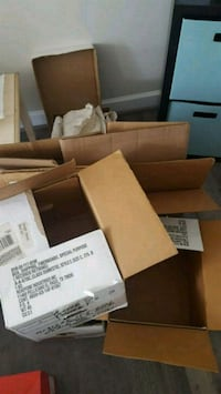 Moving boxes and packing supplies