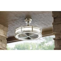 Home Decorators Collection Brette 23 In. Led Indoor/outdoor Brushed Nickel Ceiling Fan Richardson