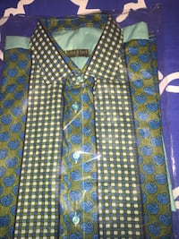 Cotton shirts made in Senegal, west Africa- medium and large shirts - business formal- medium and Large shirts -  Bethesda