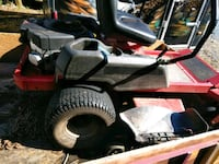 black and red ride on mower 28 km
