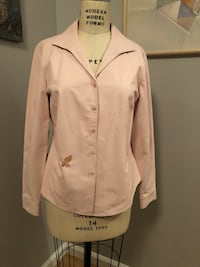 Lamb leather jacket, blush pink, size 14 Perryville, 21903
