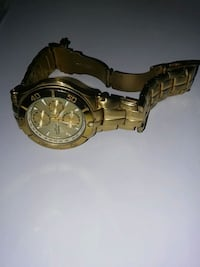 Stainless steel watch gold color El Paso, 79907