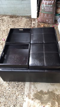 black leather padded ottoman chair Los Angeles, 91311