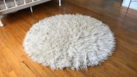 White faux rug from urban outfitters originally 160