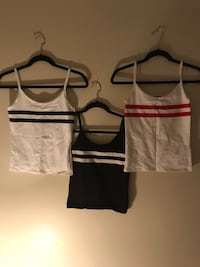 women's white and black spaghetti strap tops Toronto, M1B 3G2