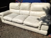 White Leather Sofa - Priced to move White Rock, V4B