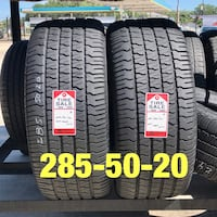 2 used tires 285/50/20 Goodyear GT2  Houston, 77047