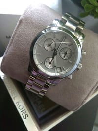 round silver chronograph watch with link bracelet Las Vegas, 89128