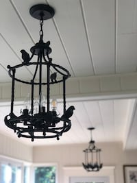 "Two pendant lights in excellent condition. 27""H x 14 diameter Alexandria, 22307"
