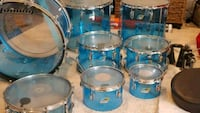 Vintage Ludwig 70's blue vistalite drum set Ashburn, 20148