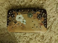 brown leather wallet purse