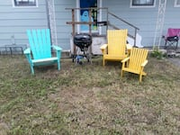 3 lawn chairs, barbeque pit Corpus Christi