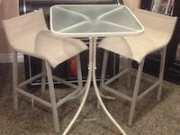 Bistro Glass Table & 2 High Chairs Mississauga