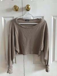 Tan Cropped Long Sleeve  Whitby, L1N 8T2