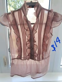 LOWERED-Work place clothing-top with side zipper size xs Toronto, M6B 3J3