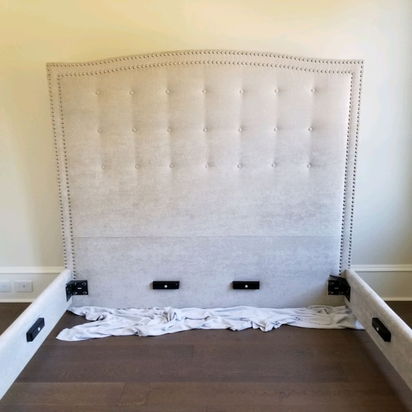 Selling fully upholstered King size Grey bed