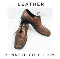 Kenneth Cole Men's 10 M brown leather dress shoes oxfords  San Diego, 92110