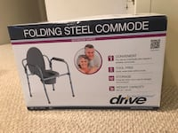 NEW IN BOX Drive Folding Steel Commode Centreville, 20120