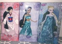 "Disney Princess Dolls Mulan, Jasmine, Elsa BNIB Brand New In The Boxes 12"" High Collector Disney Dolls Selling $60  $25 Each or 3 for $60  VIEW MY OTHER ADS!!! Toronto"